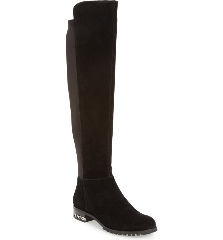 MICHAEL MICHAEL KORS 'Sabrina' Over the Knee Stretch Back Boot, Main, color, 001