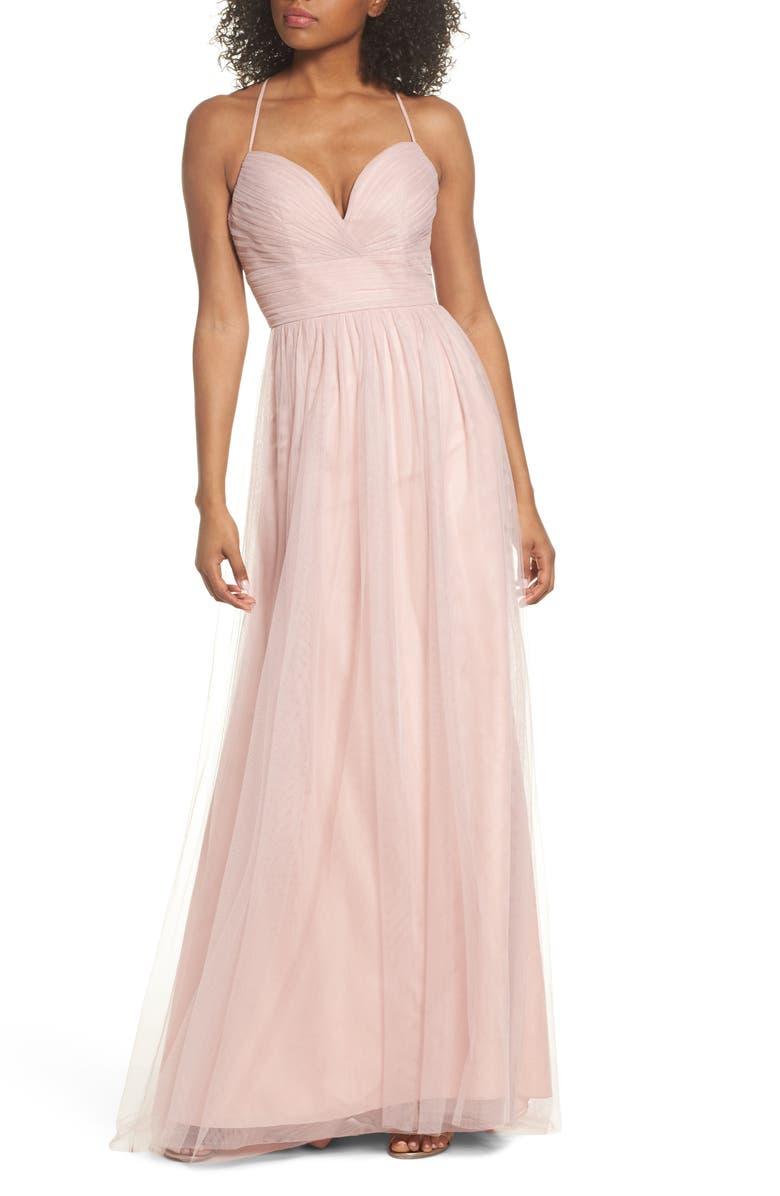 HAYLEY PAIGE OCCASIONS English Net Gown, Main, color, DUSTY ROSE
