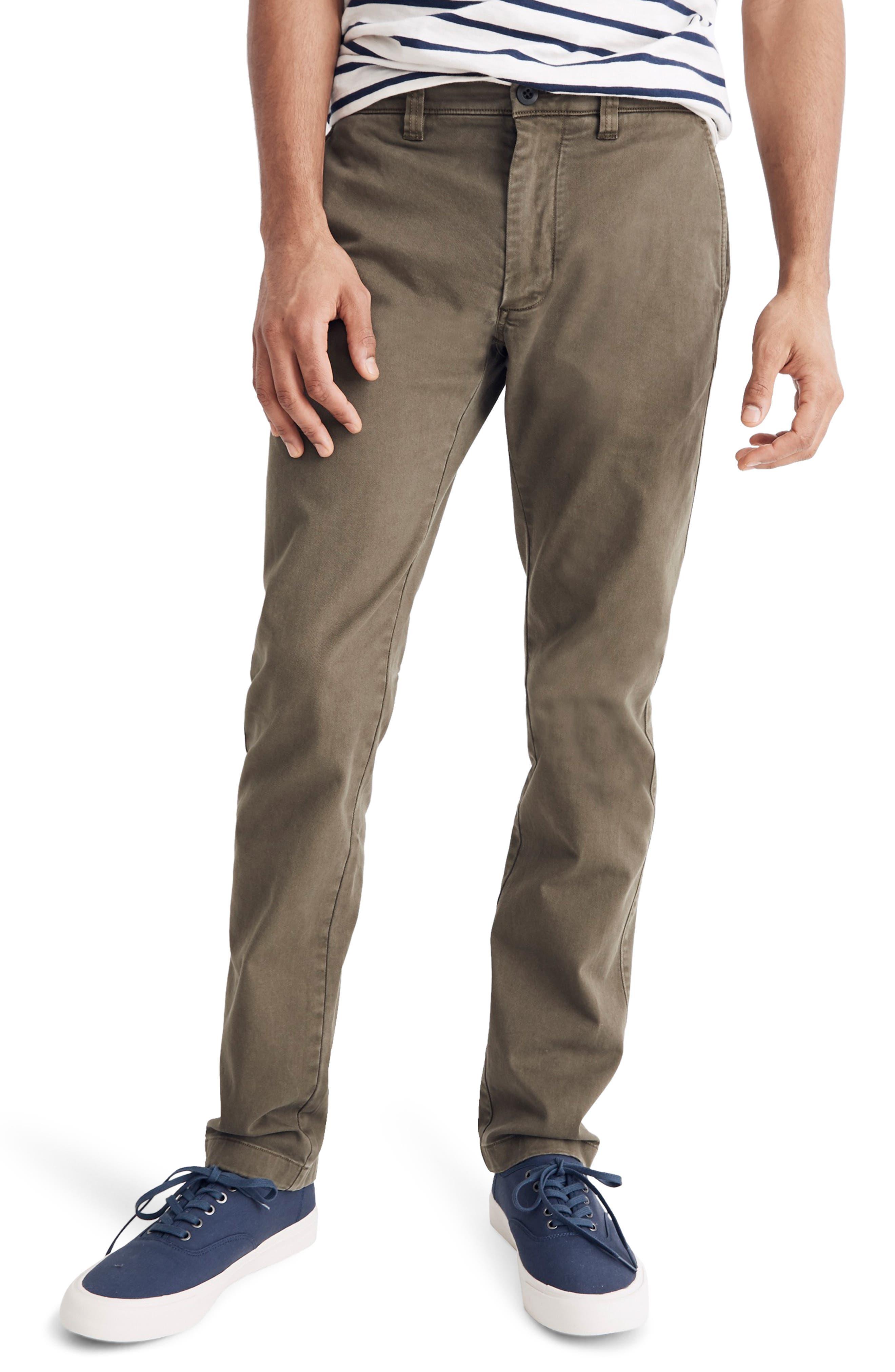 Madewell Penn Slim Fit Chino Pants, Green