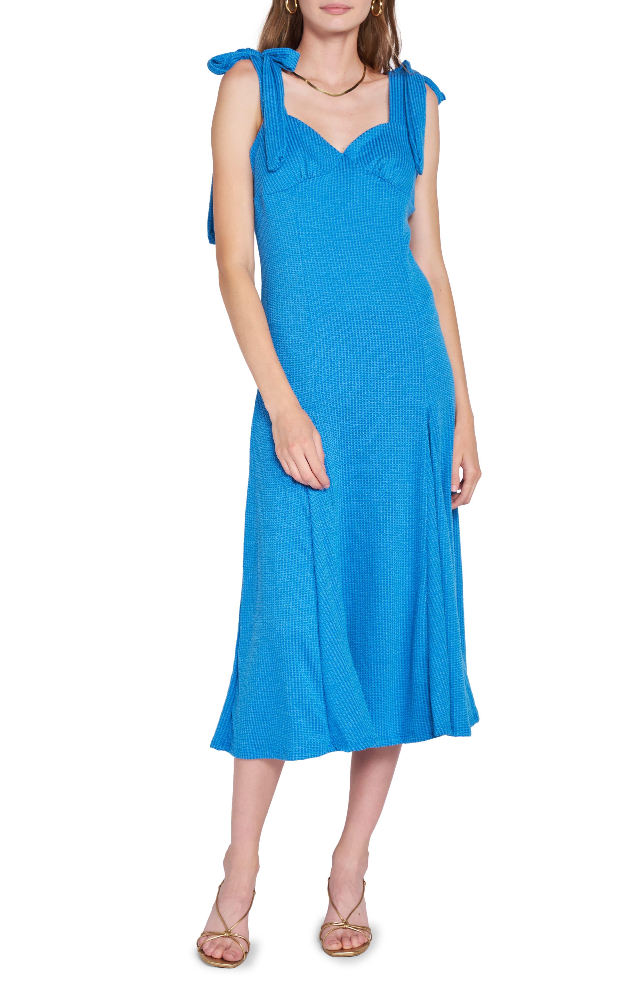 Shoulder Tie A-Line Dress