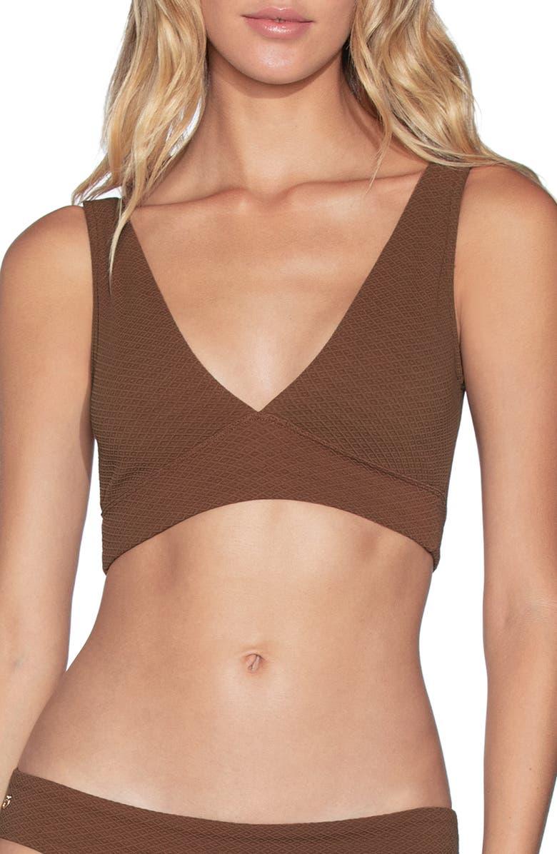 MAAJI Allure Texture 4-Way Reversible Bikini Top, Main, color, COCONUT BROWN TEXTURE