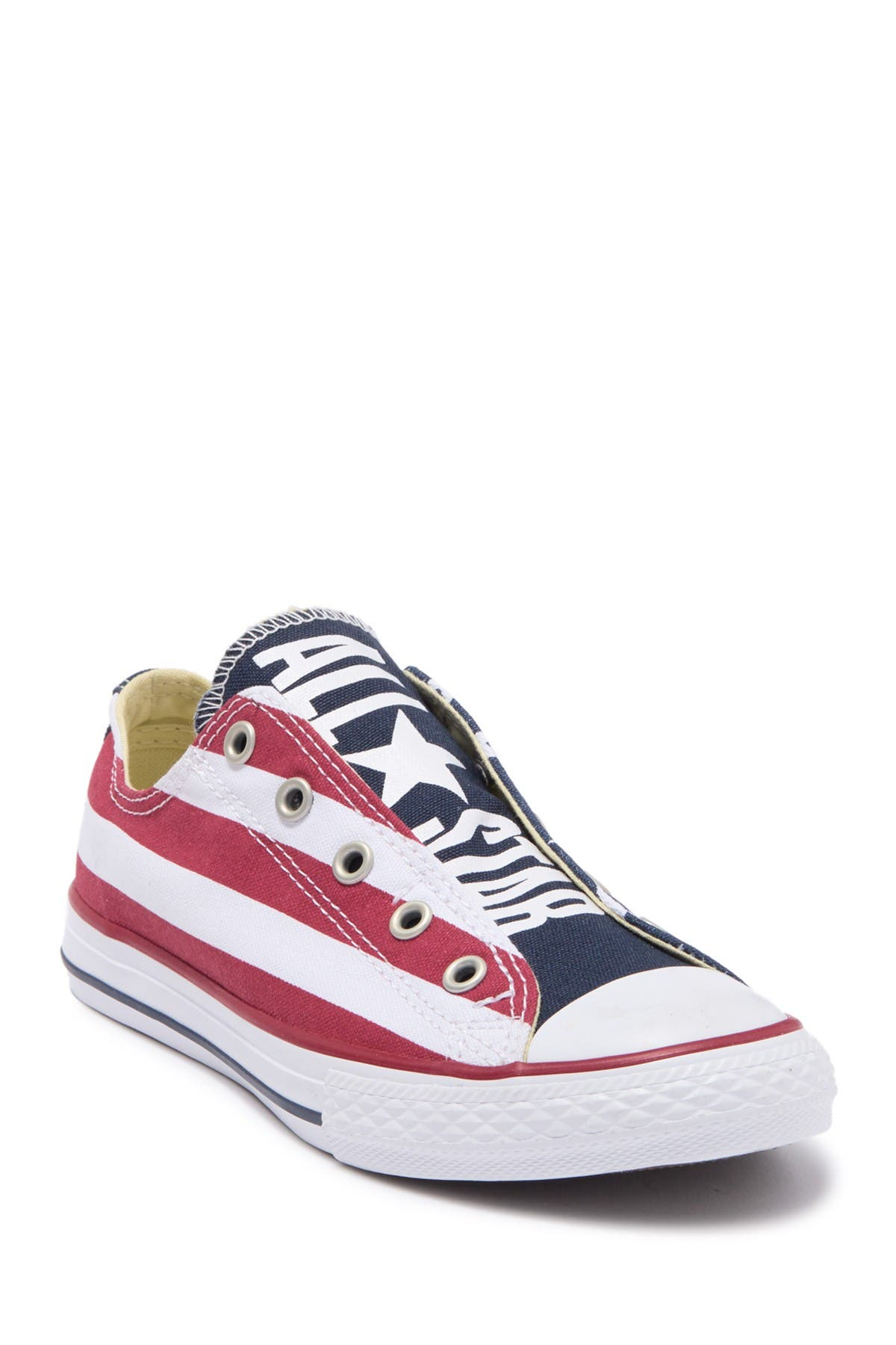 Image of Converse Chuck Taylor All Start Flag Print Laceless Sneaker