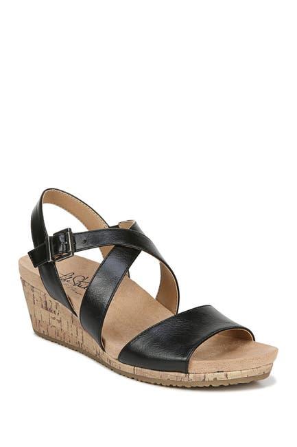 Image of LifeStride Maple Cork Wedge Sandal