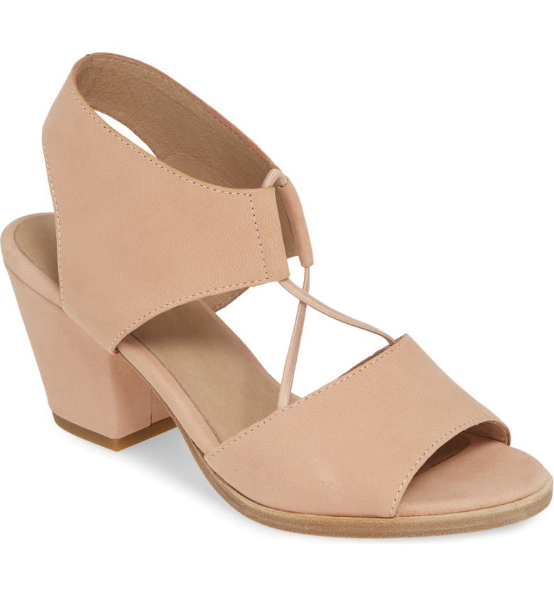 EILEEN FISHER Doe Sandal, Main, color, BLUSH TUMBLED NUBUCK LEATHER