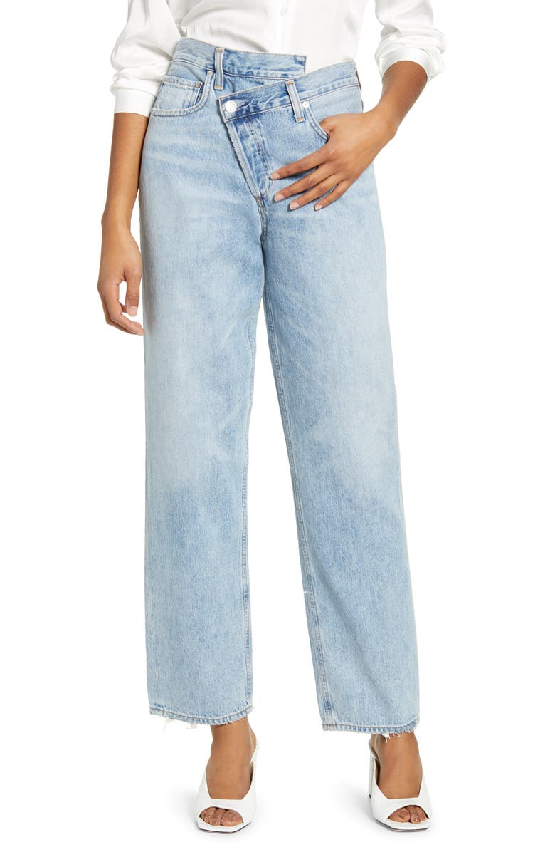 AGOLDE Crisscross Upsize High Waist Jeans, Main, color, SUBURBIA