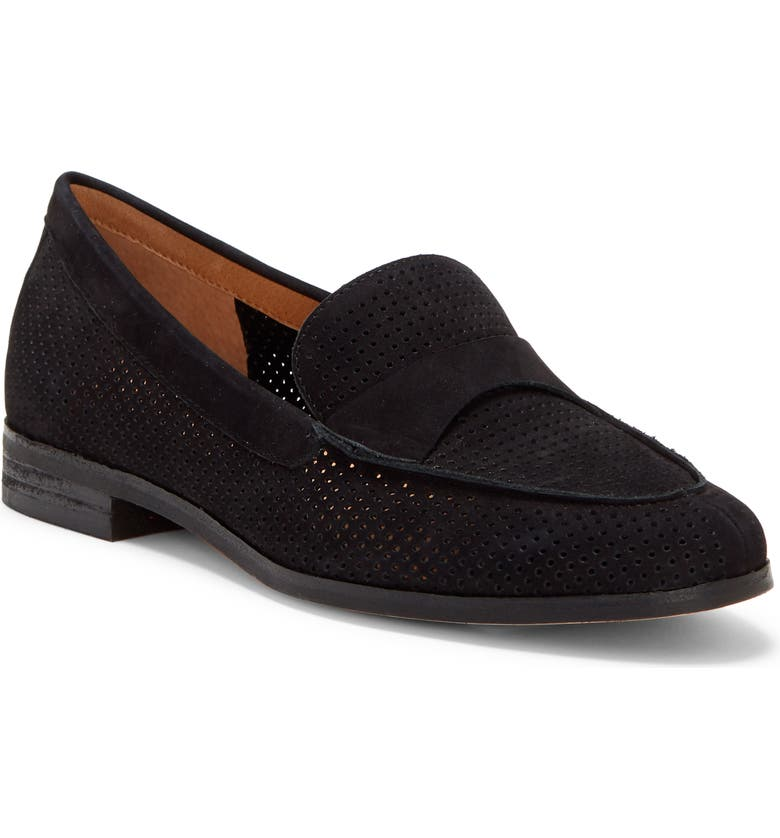 CC CORSO COMO<SUP>®</SUP> Carlynne Loafer, Main, color, BLACK PERFORATED NUBUCK