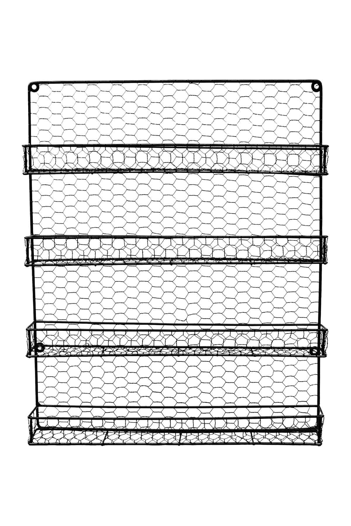 Image of Sorbus 4 Tier Wall Mounted Spice Rack Storage Organizer - Black