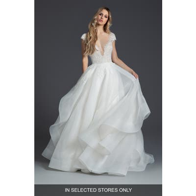 Blush By Hayley Paige Willow Ballgown Wedding Dress, Size IN STORE ONLY - Ivory