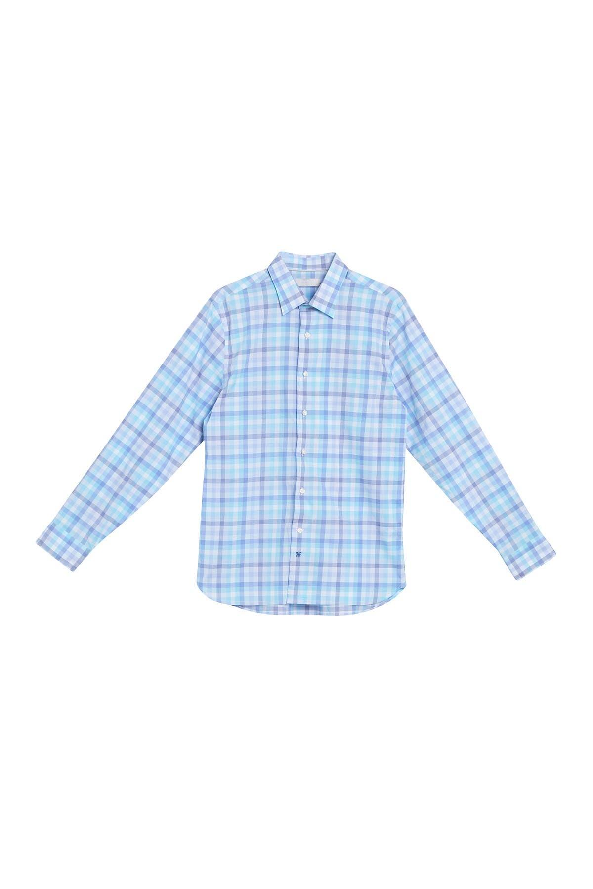Image of Hickey Freeman Plaid Christopher Shirt
