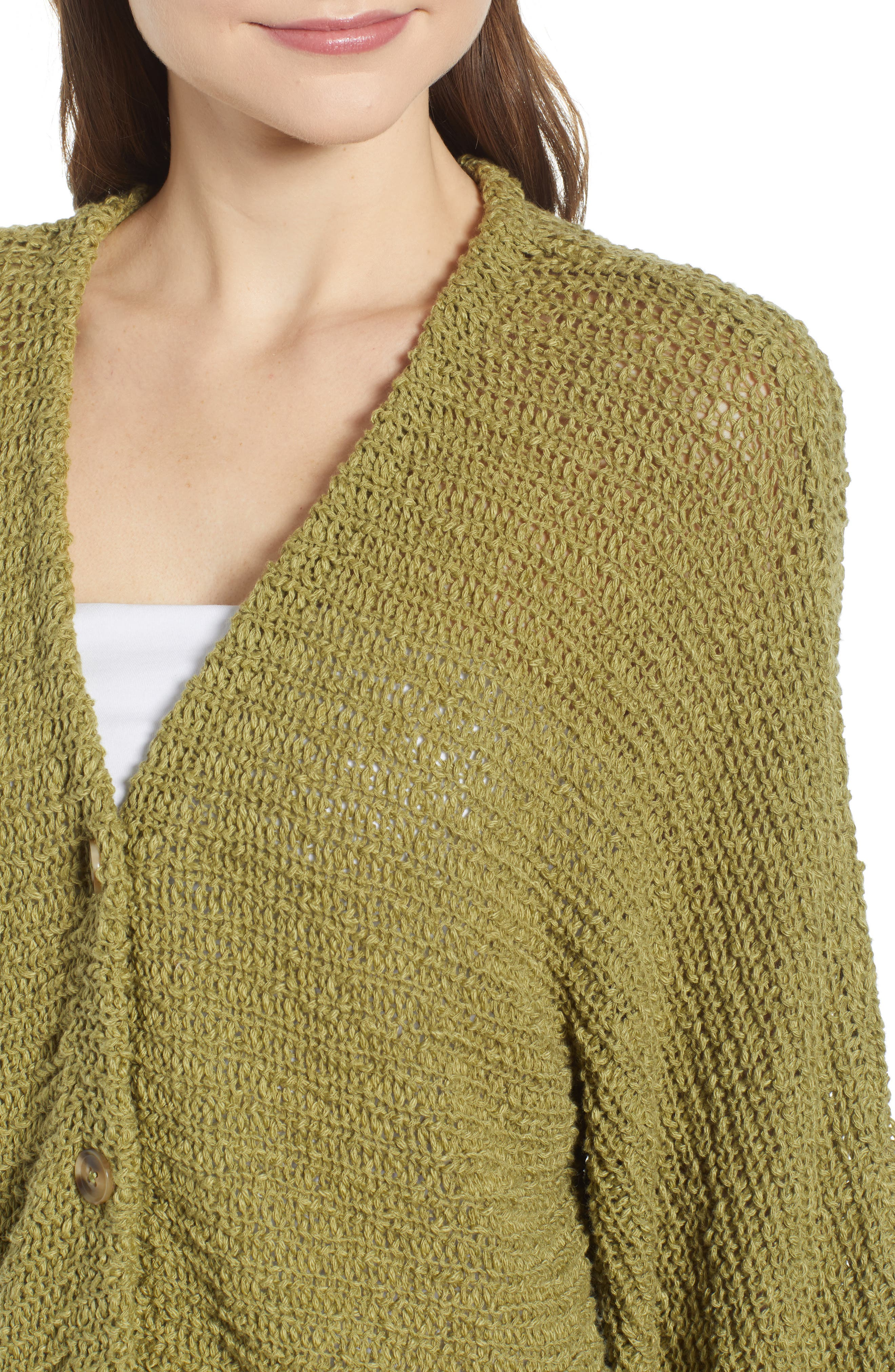 ,                             Dolman Sleeve Button Front Cardigan,                             Alternate thumbnail 6, color,                             OLIVE EMERALD