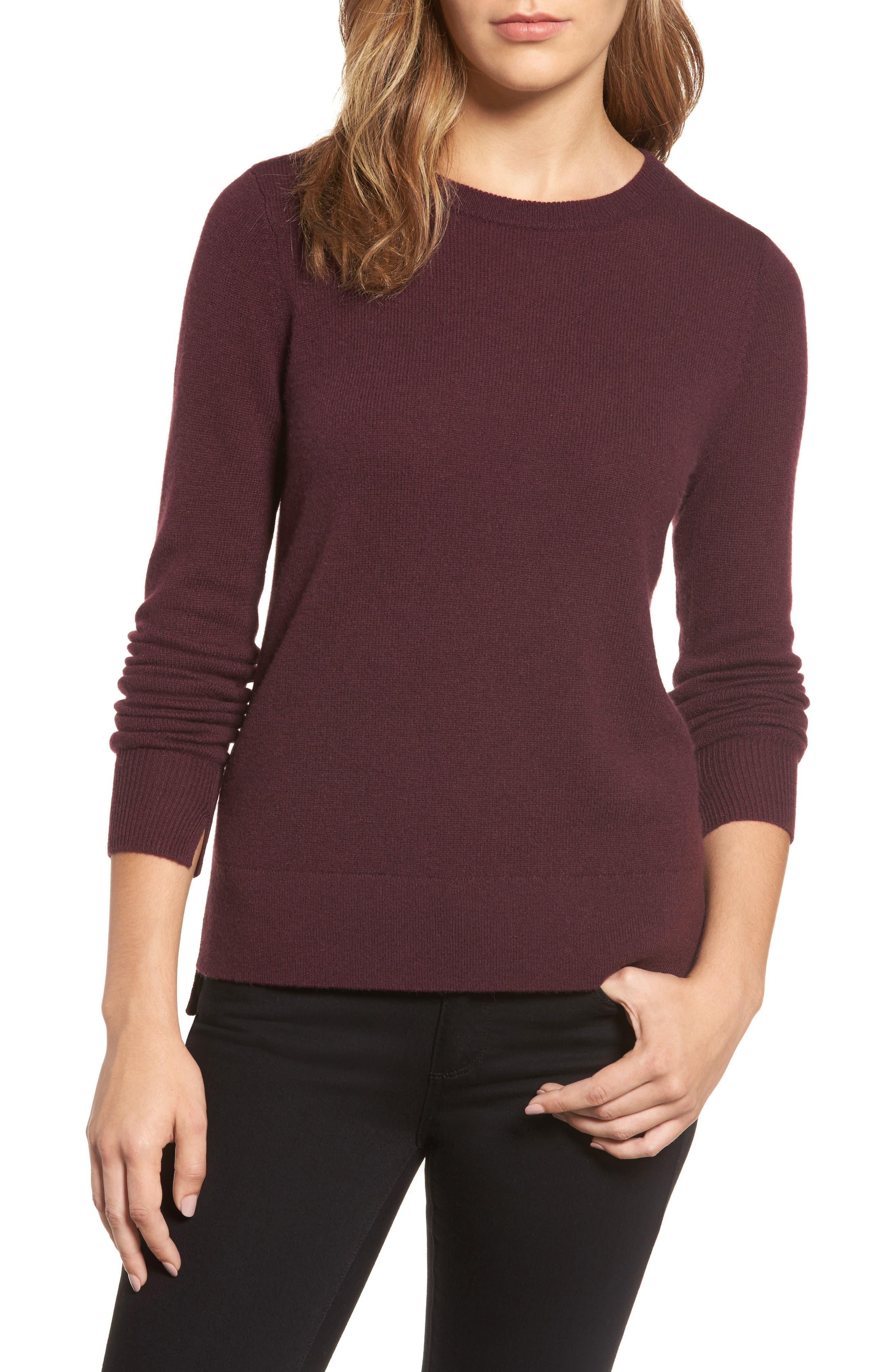 ,                             Crewneck Cashmere Sweater,                             Main thumbnail 288, color,                             930