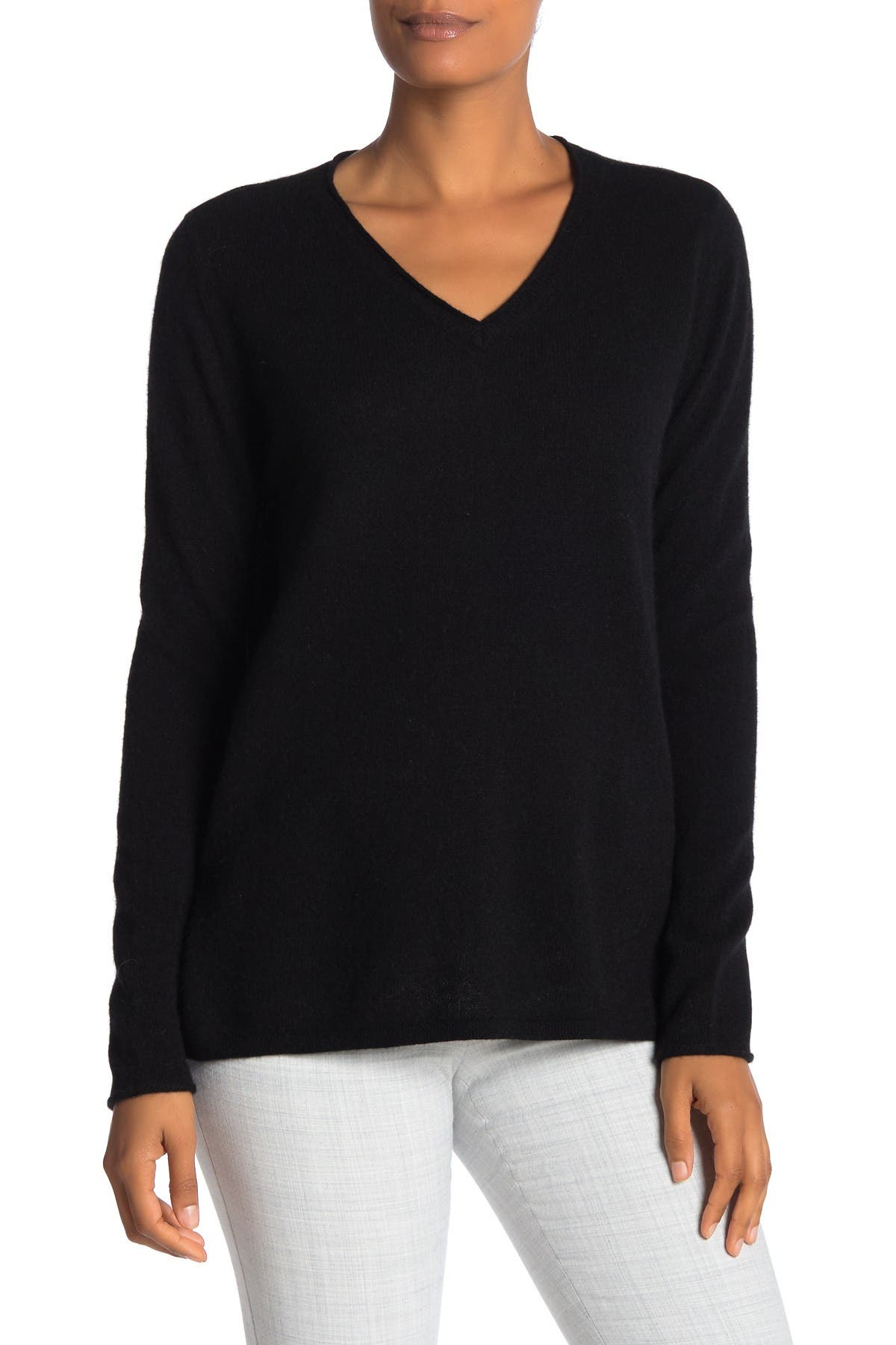 Image of M Magaschoni Cashmere V-Neck Tunic Sweater