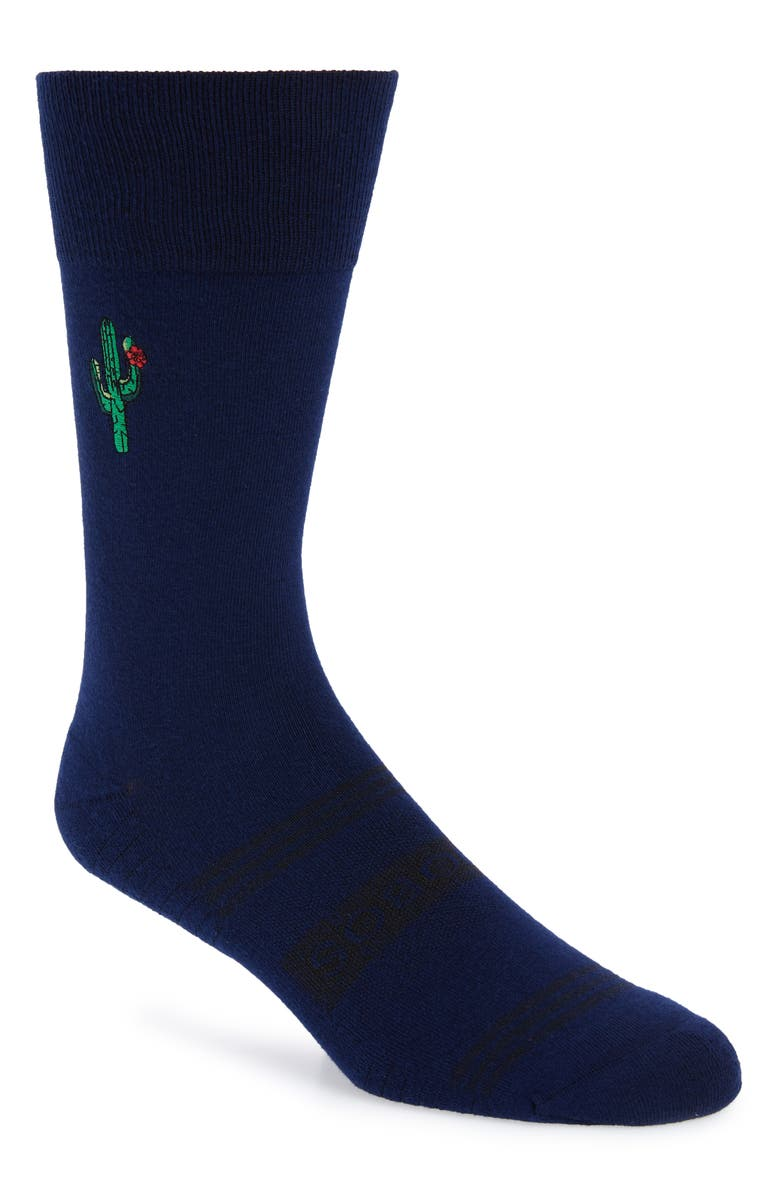 BONOBOS Embroidered Cactus Socks, Main, color, 400