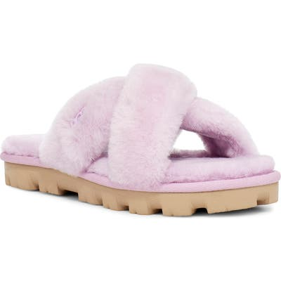 UGG Fuzzette Genuine Shearling Slipper, Purple