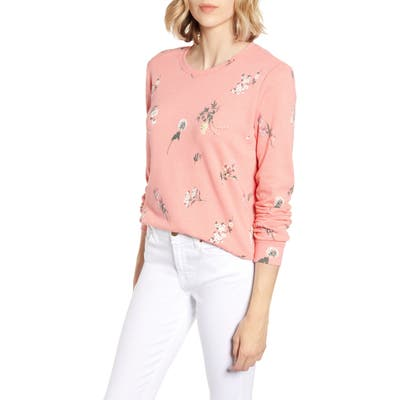 Lucky Brand Tossed Floral Sweatshirt, Pink