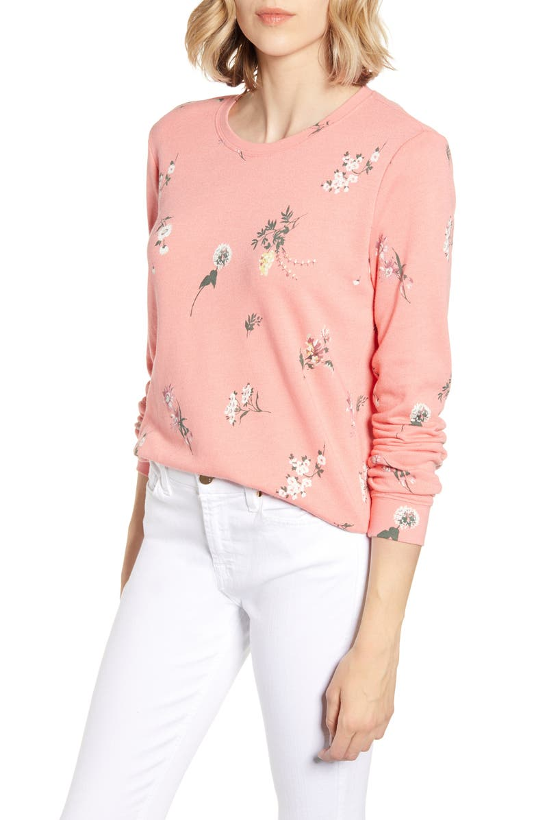 Tossed Floral Sweatshirt by Lucky Brand