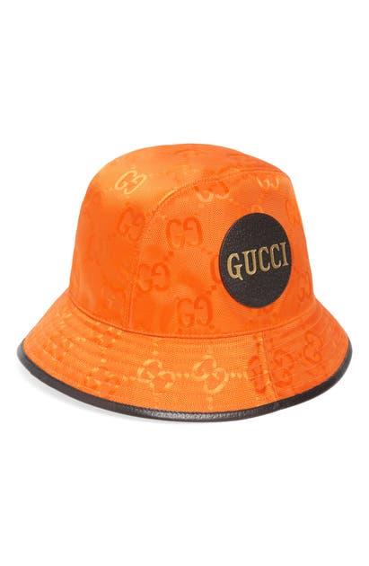 Gucci LOGO PATCH GG NYLON BUCKET HAT
