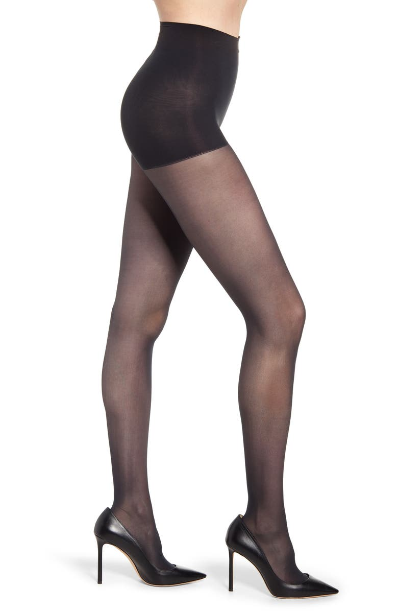 DKNY Light Opaque Control Top Tights, Main, color, NAVY II