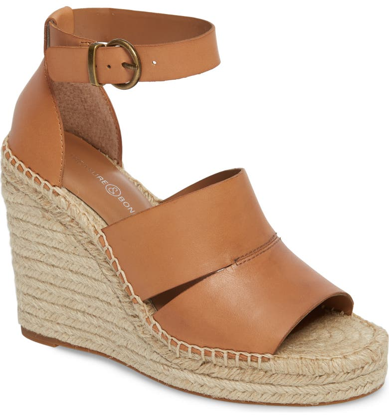 TREASURE & BOND Sannibel Platform Wedge Sandal, Main, color, TAN LEATHER