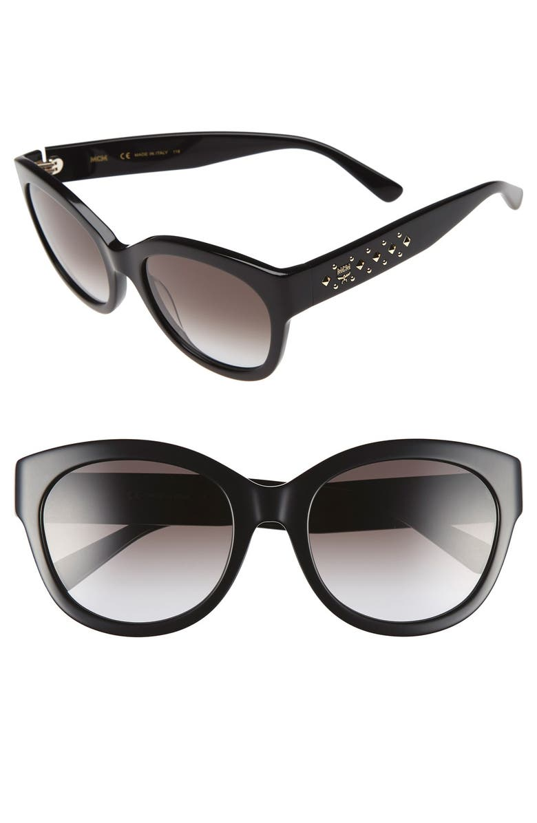 MCM 56mm Retro Sunglasses, Main, color, 001
