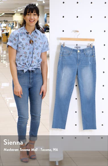 Ab-solution High Waist Ankle Skinny Jeans, sales video thumbnail