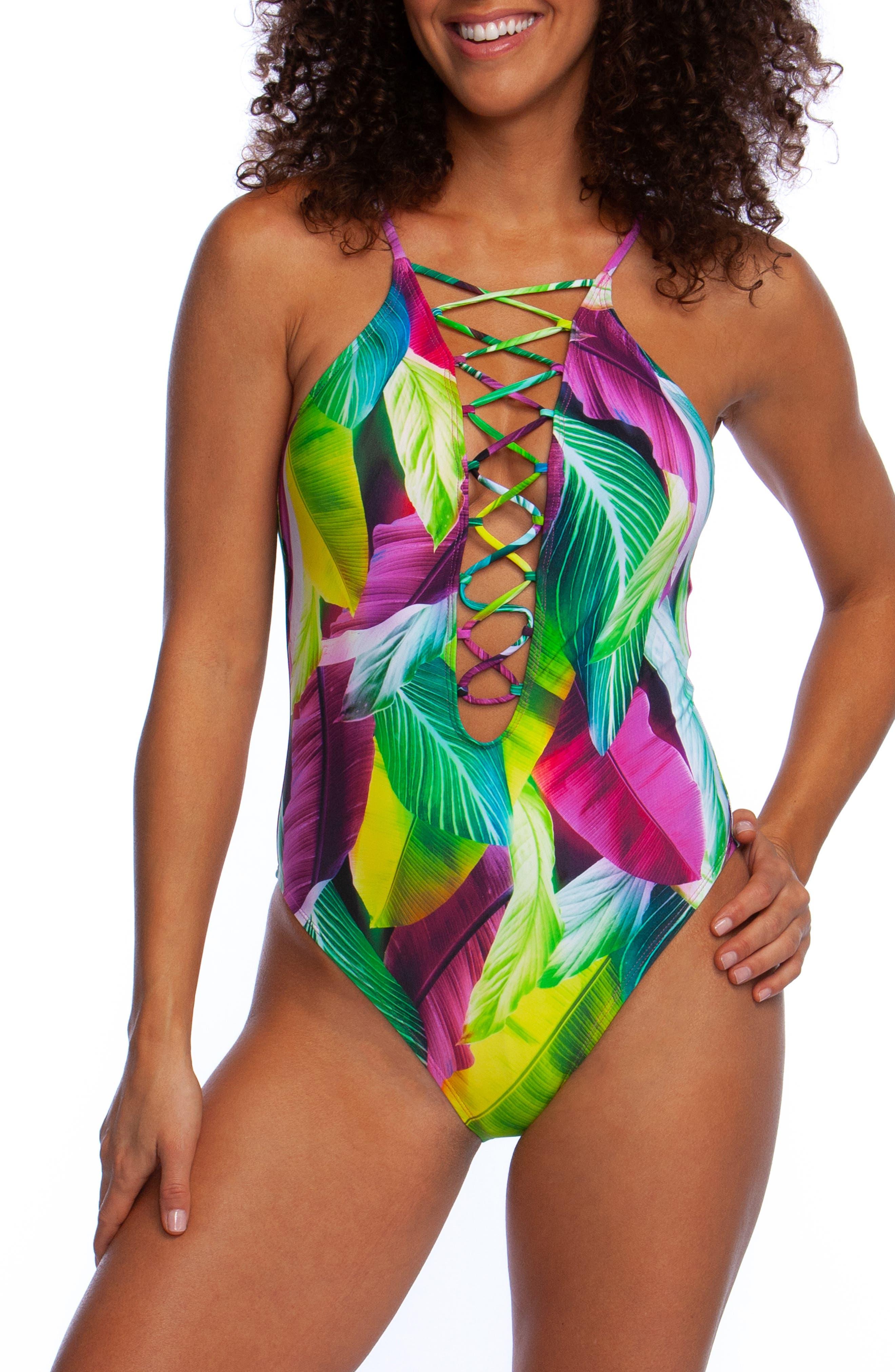La Blanca Tropic Day One-Piece Swimsuit, Pink