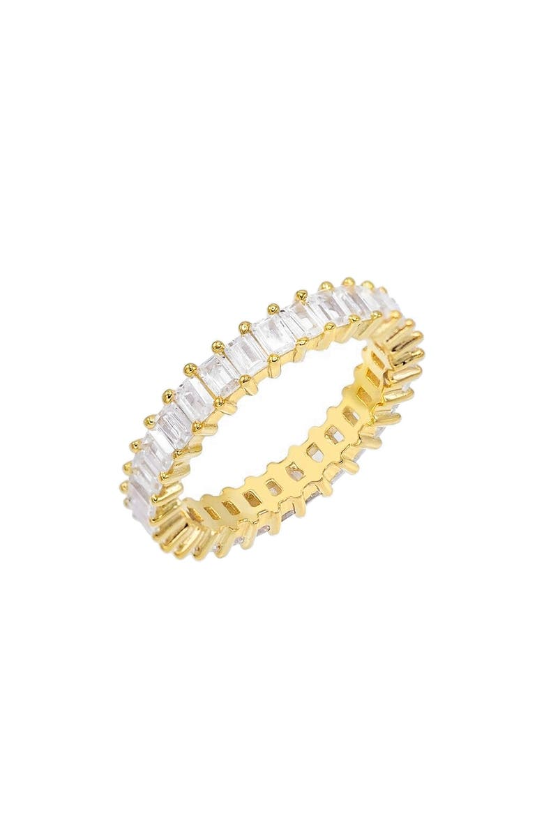 ADINA'S JEWELS Baguette Eternity Ring, Main, color, GOLD