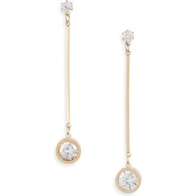 Knotty Crystal Bar Drop Earrings