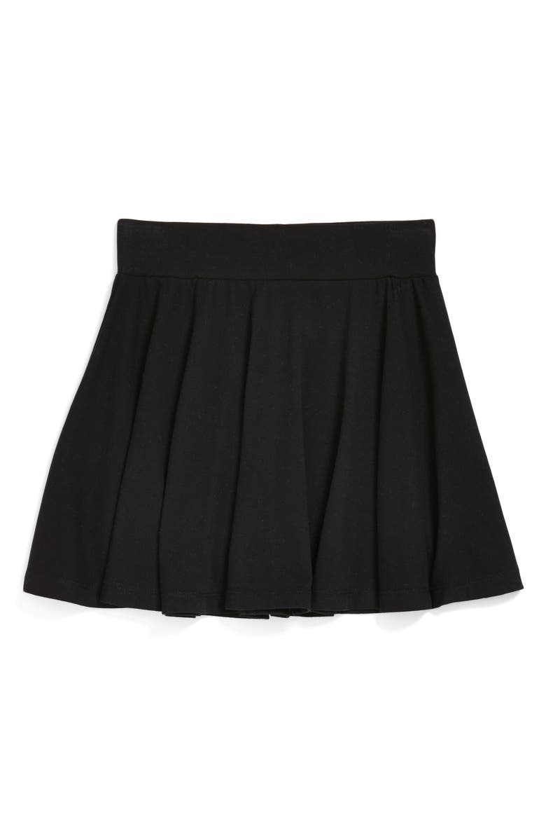 TUCKER + TATE Ali Skater Skirt, Main, color, BLACK