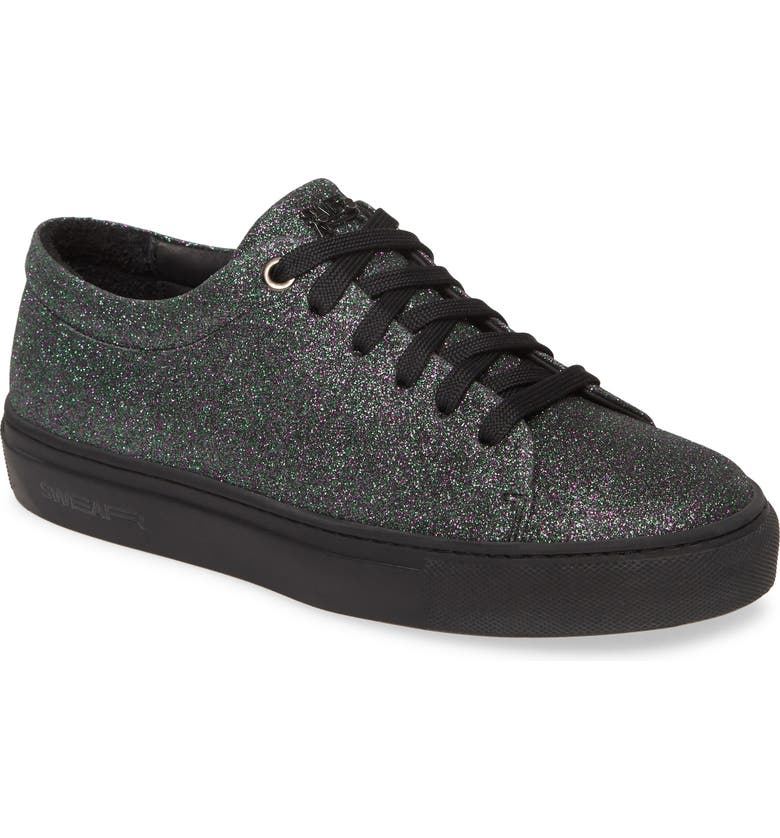 SWEAR Vyner Low Top Sneaker, Main, color, BLACK GLITTER LEATHER