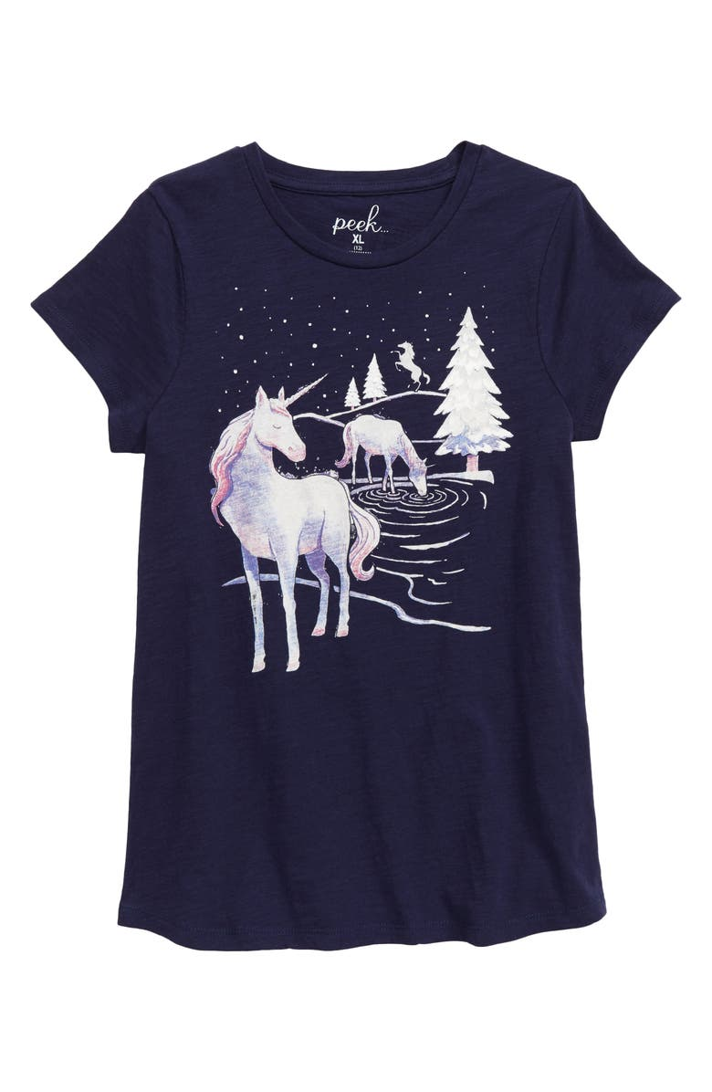 PEEK AREN'T YOU CURIOUS Unicorn Made of Magic Tee, Main, color, 410