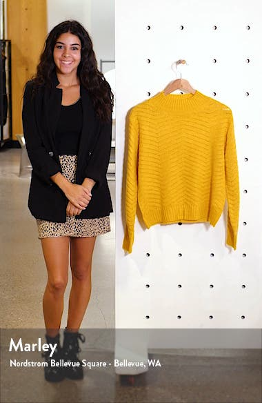 Chevron Stitch Mock Neck Sweater, sales video thumbnail