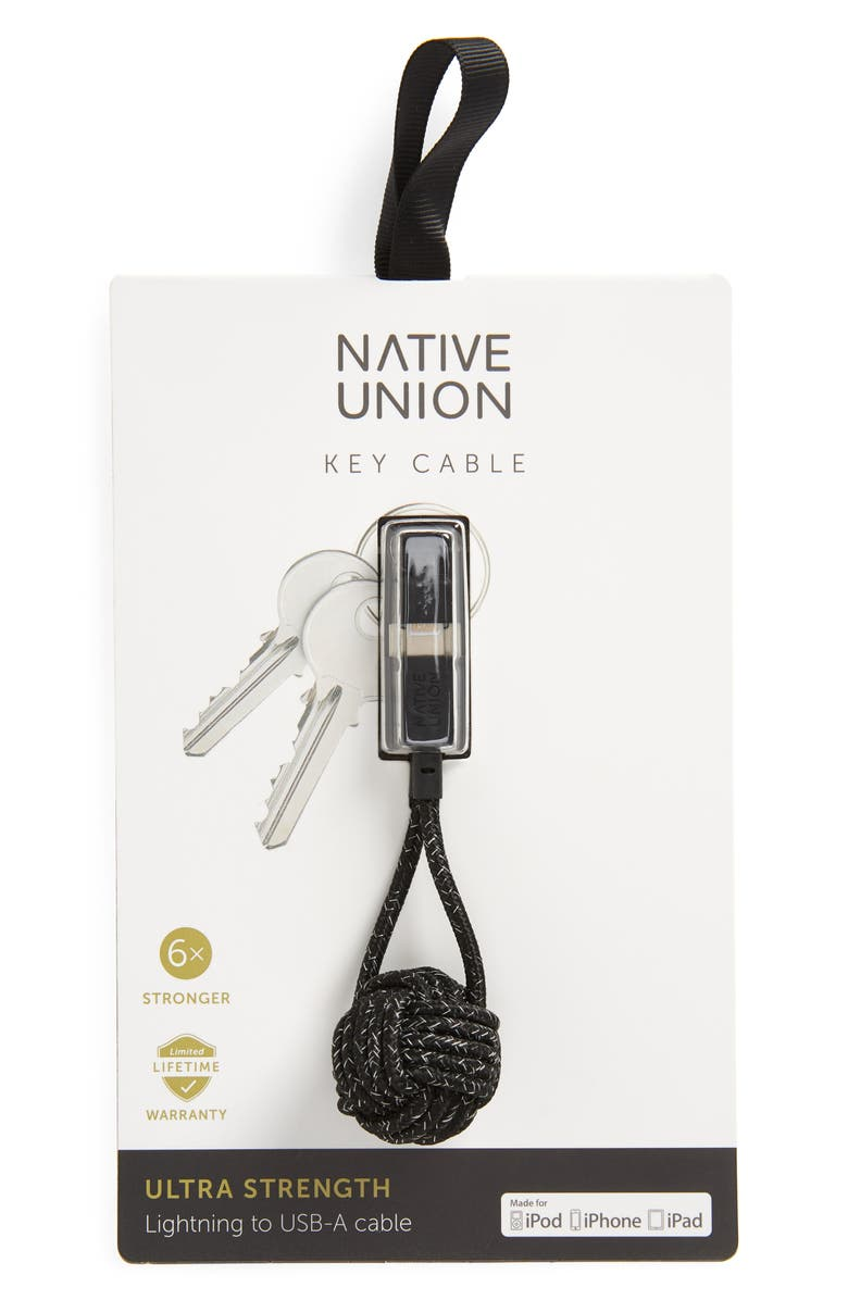 NATIVE UNION Lightning to USB Key Cable, Main, color, COSMOS