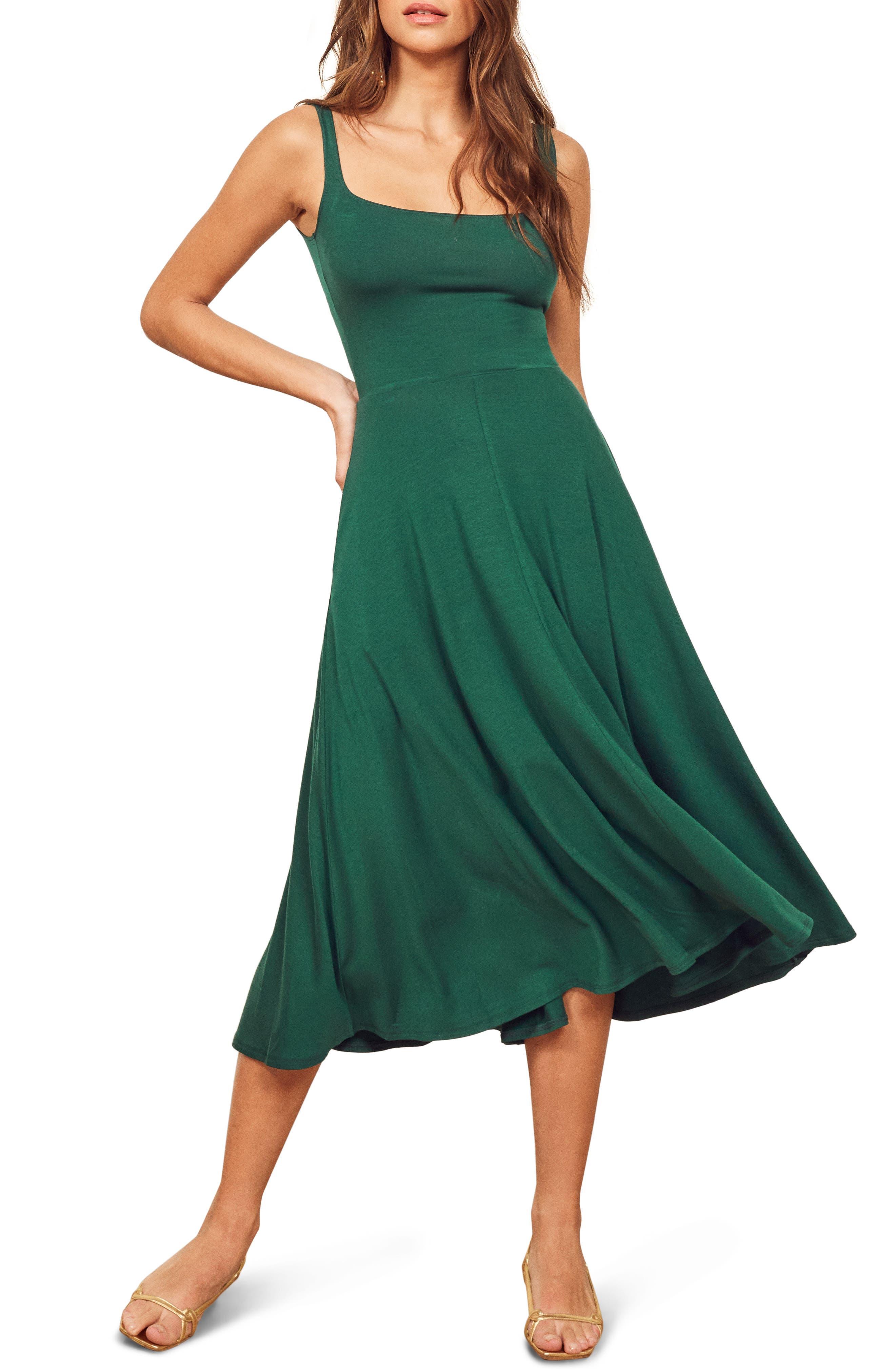 Reformation Mary Tank Dress, Green