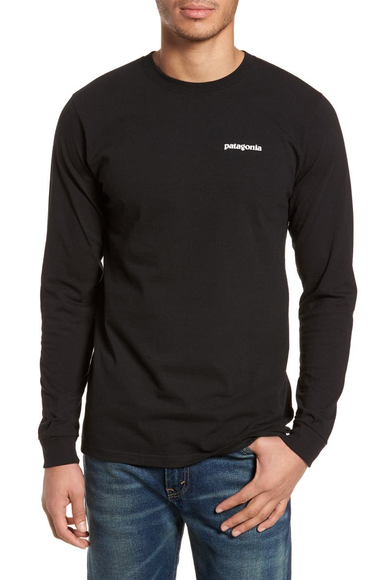 PATAGONIA Responsibili-Tee Long Sleeve T-Shirt, Main, color, BLACK