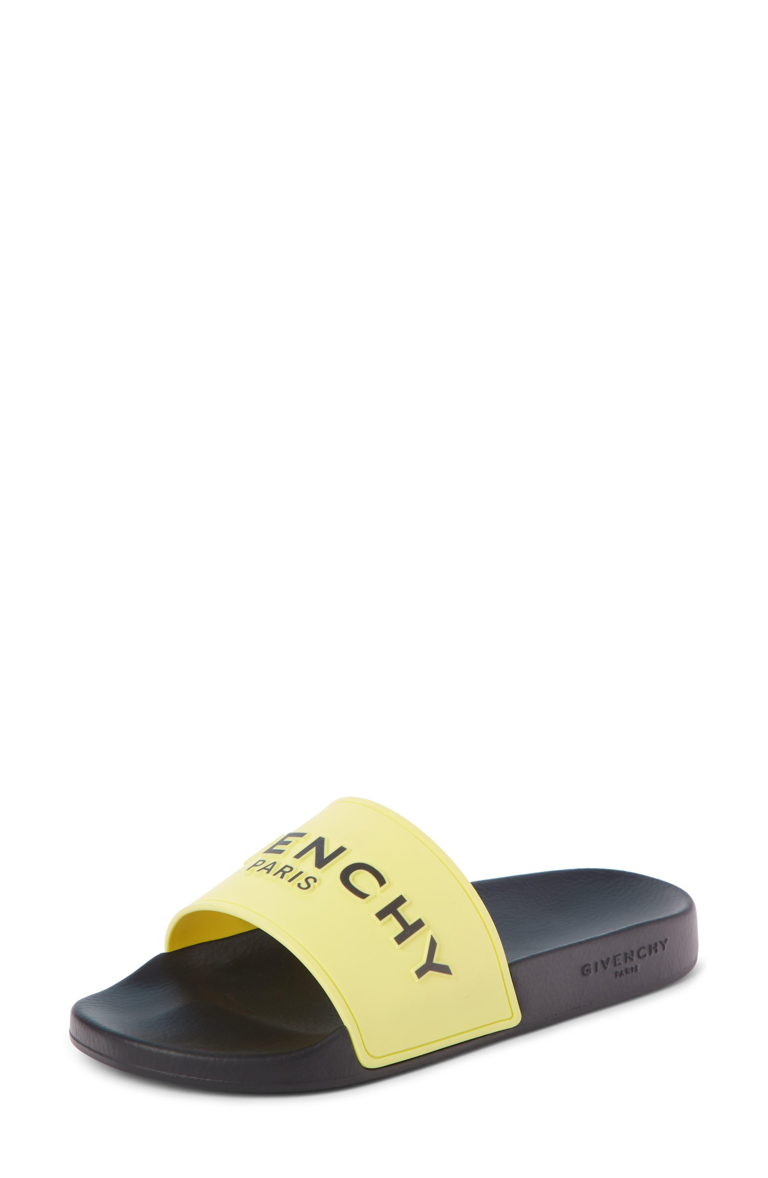 Givenchy Logo Slide, Yellow