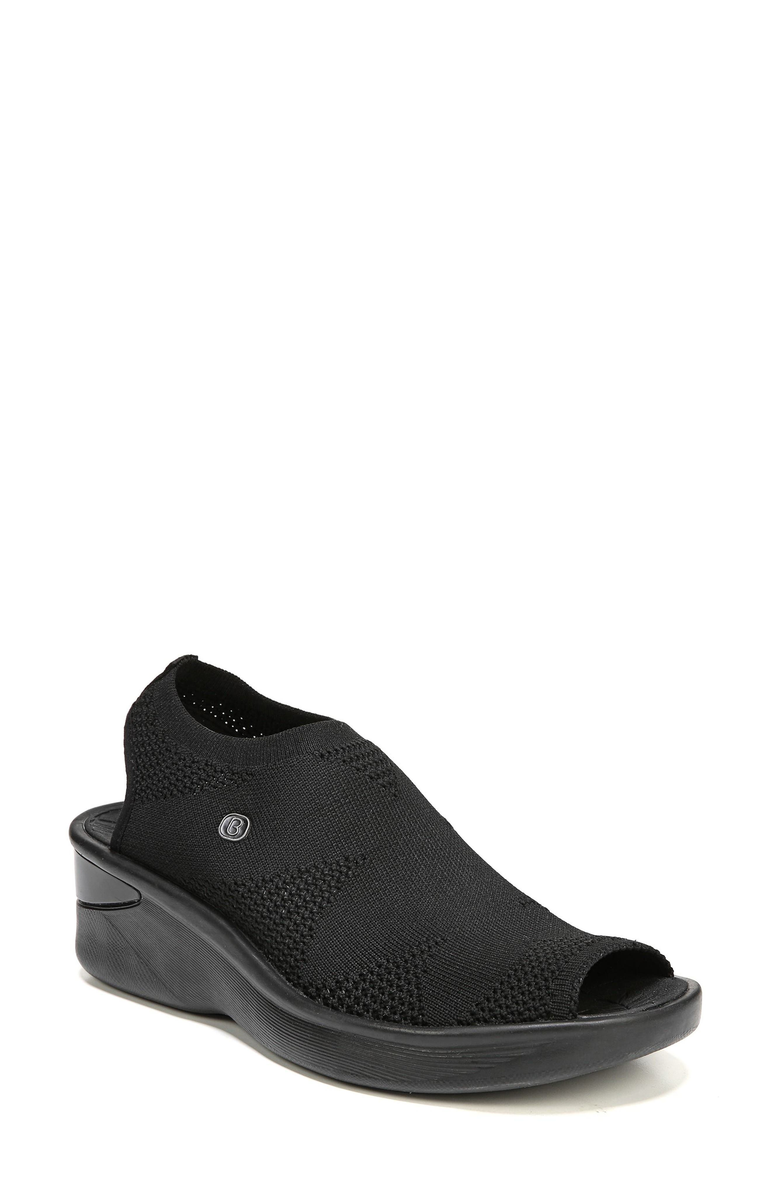 Secret Peep Toe Knit Sneaker