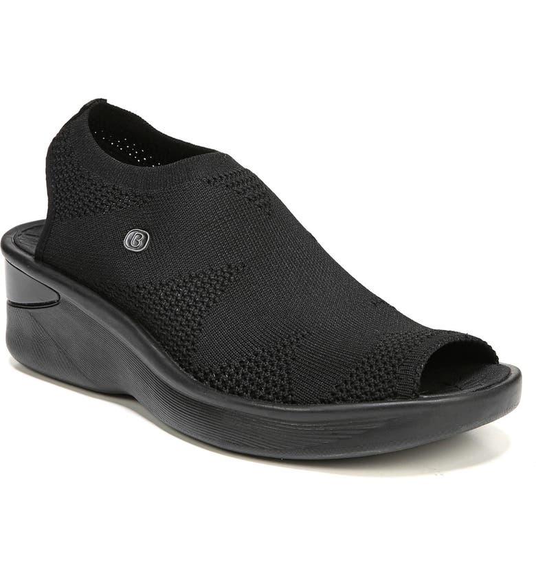 BZEES Secret Peep Toe Knit Sneaker, Main, color, 001