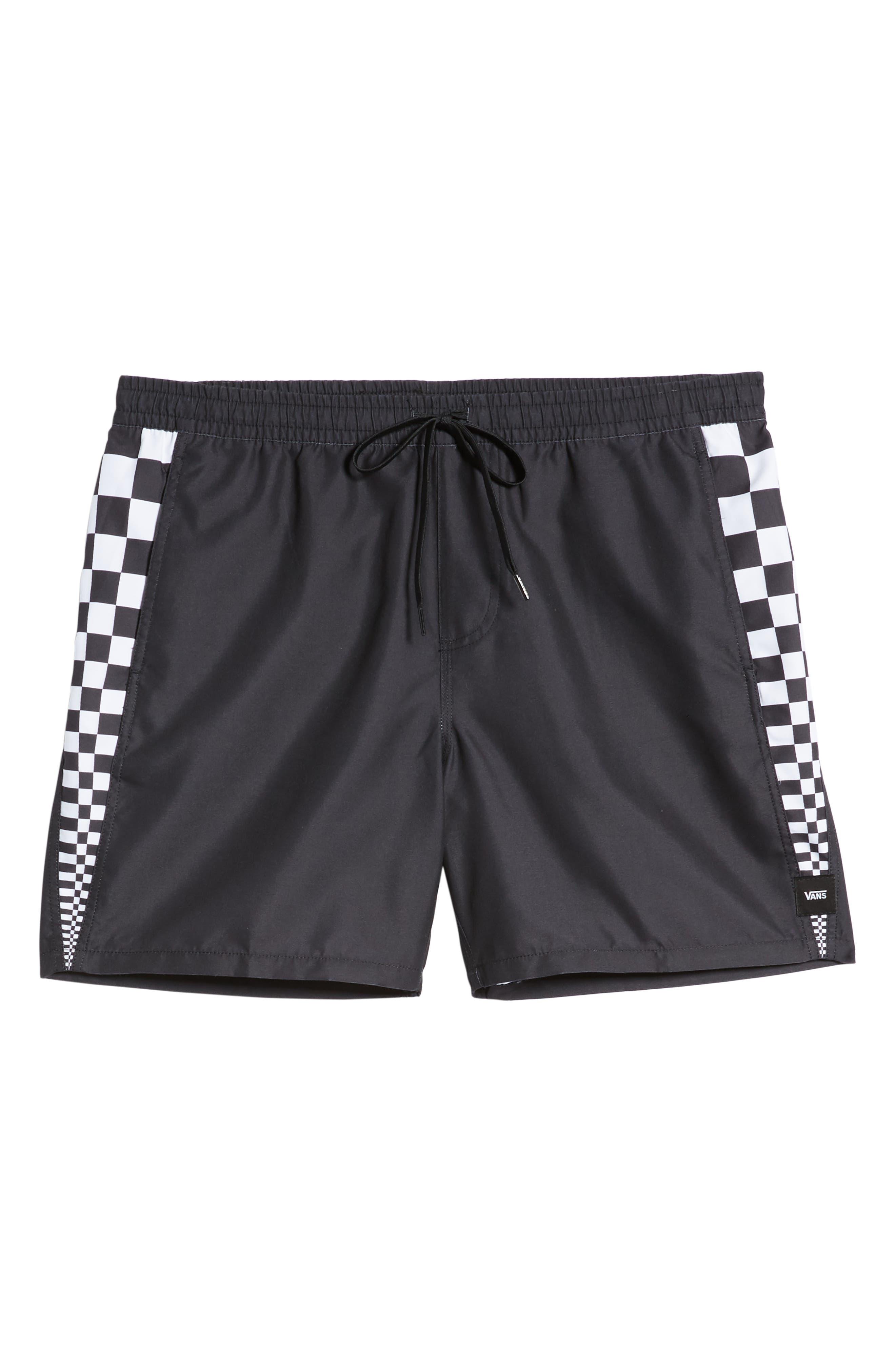 ,                             V Panel Volley Shorts,                             Alternate thumbnail 6, color,                             BLACK