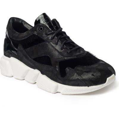 Jared Lang Turin Faux Fur Sneaker, Black