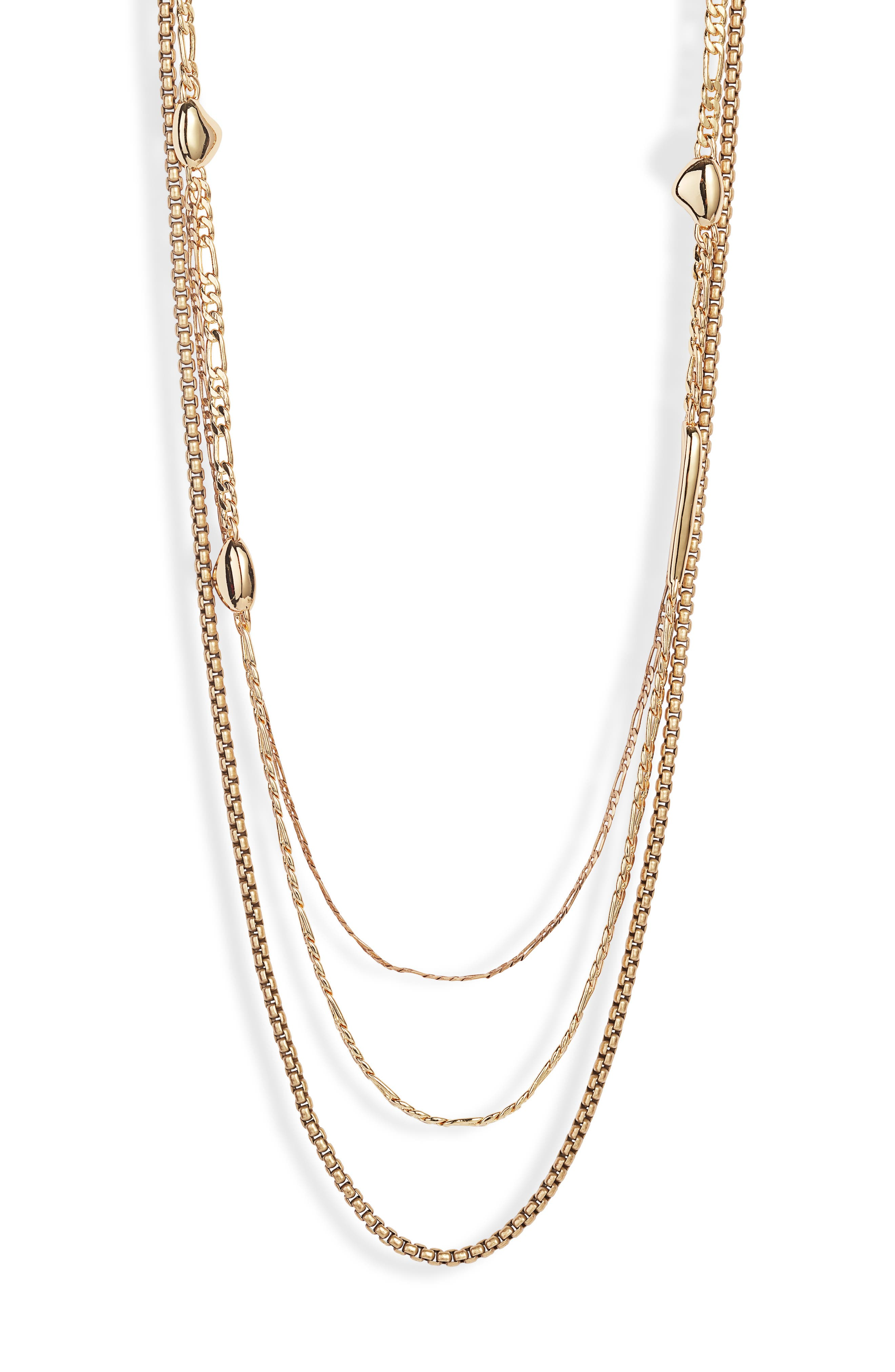 Jenny Bird Salento Layered Chain Link Necklace In High Polish Gold