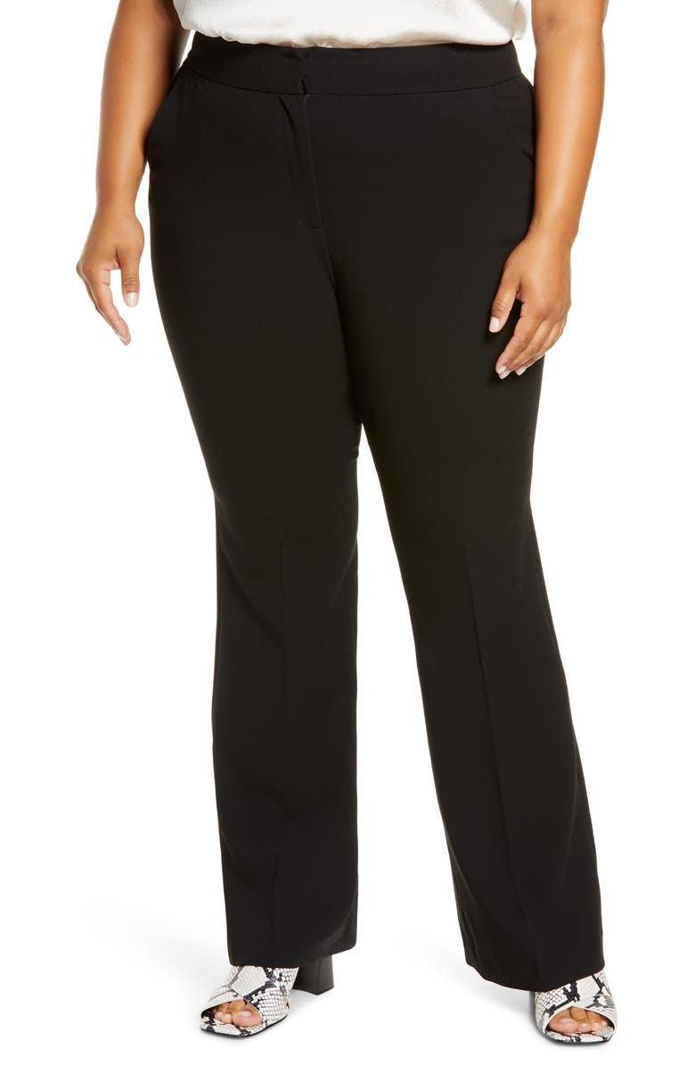 HALOGEN<SUP>®</SUP> Flare Leg Pants, Main, color, BLACK