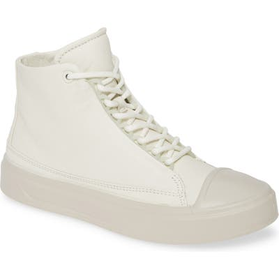 Ecco Flexure Cap Toe High Top Sneaker, White