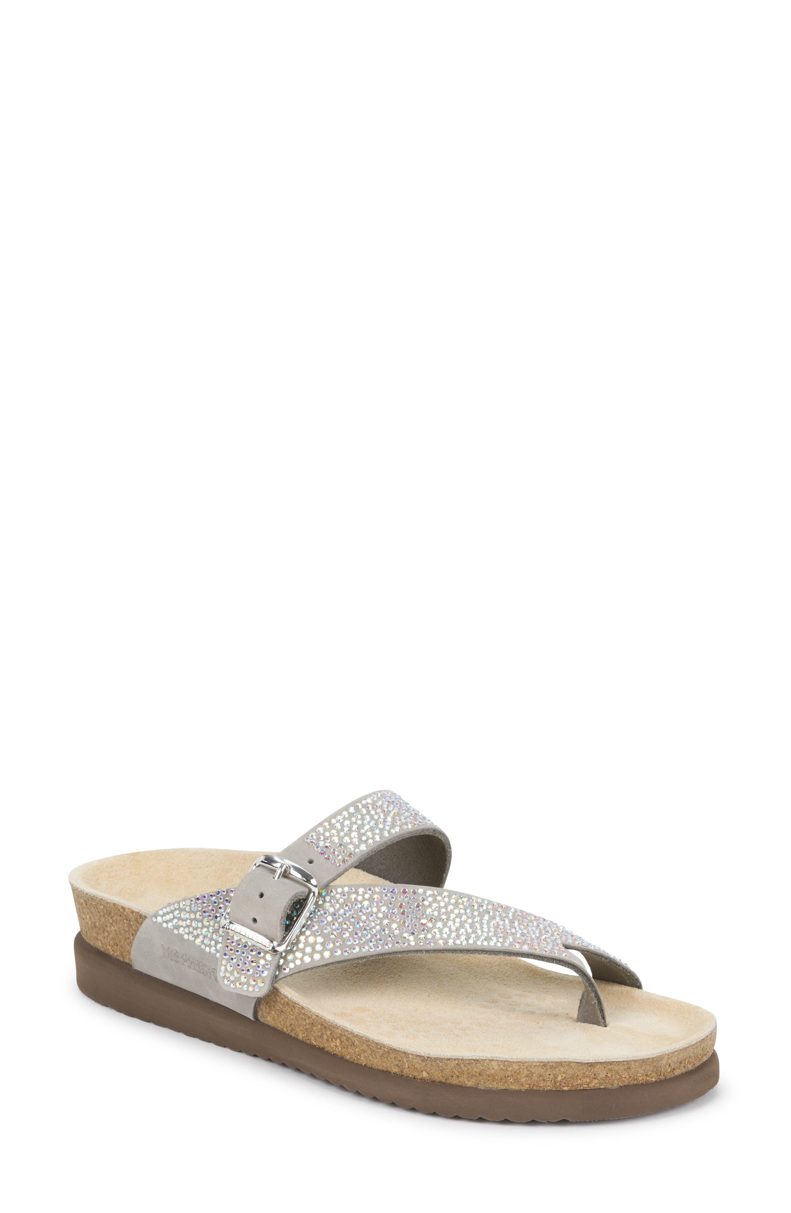 Mephisto Helen Crystal Embellished Sandal, Grey