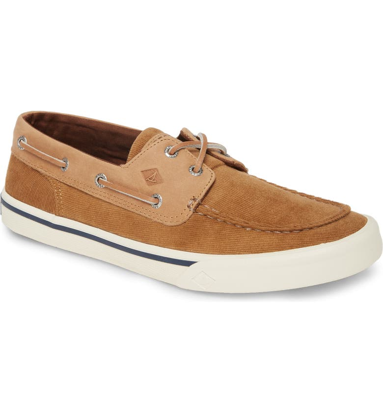 SPERRY Bahama II Corduroy Boat Shoe, Main, color, TAN