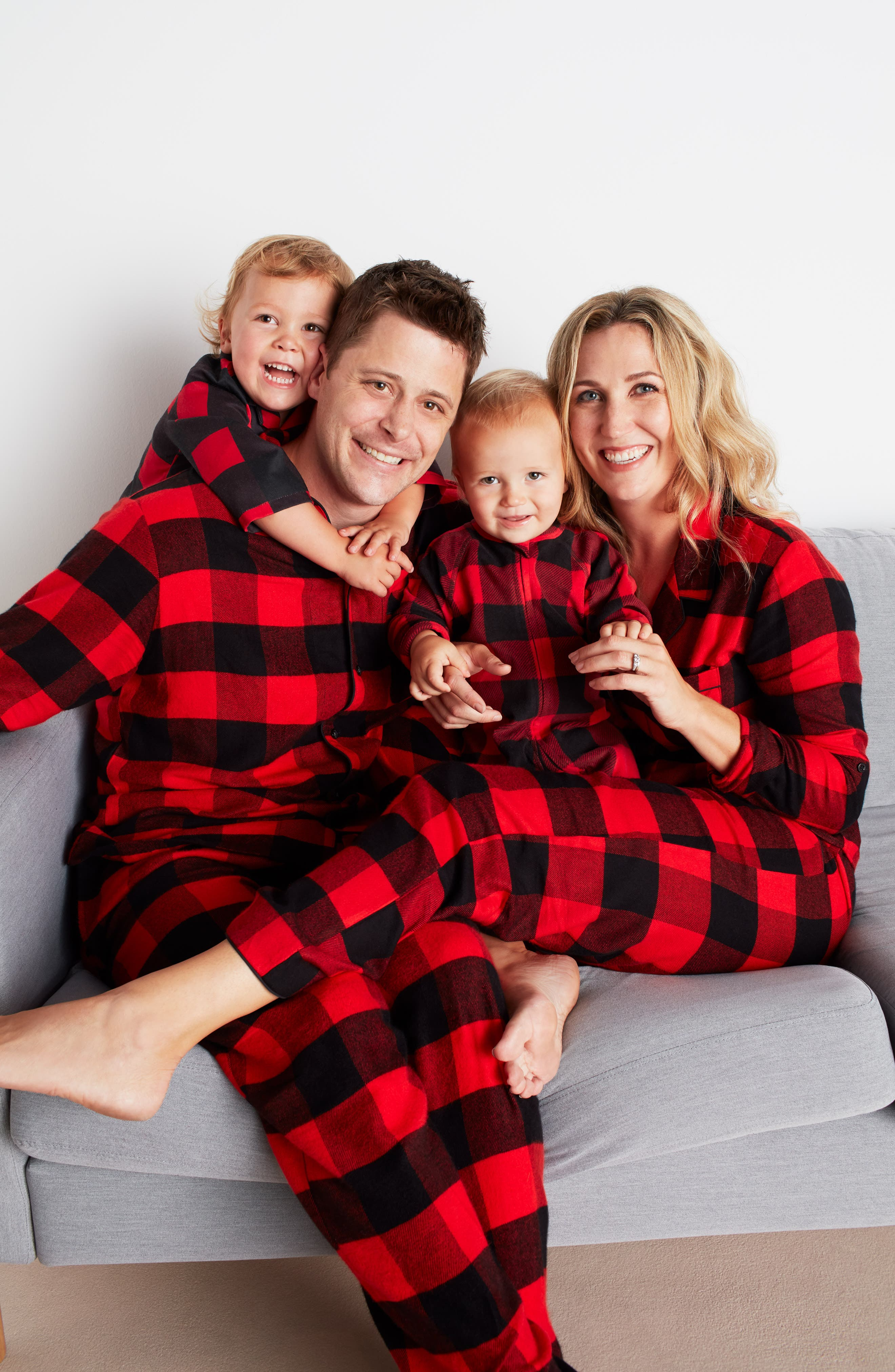 Family Father Flannel Pajamas, Main, color, 020