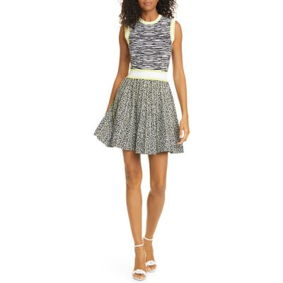 Ted Baker London Lebiiey Mixed Animal Pattern Skater Dress, White