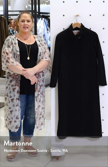 Long Stand Collar Cashmere Coat, sales video thumbnail