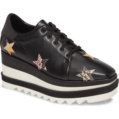 Stella Mccartney Star Platform Wedge Sneaker - Black