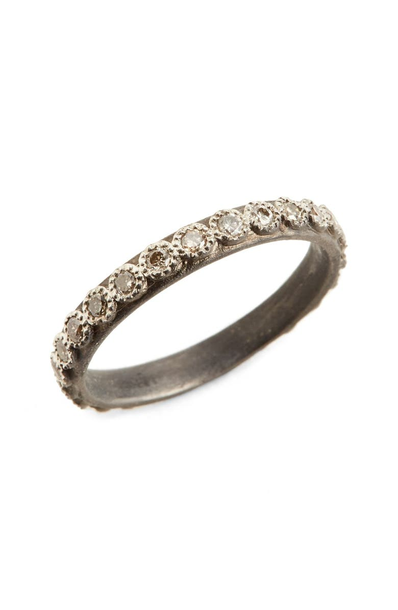 ARMENTA New World Diamond Ring, Main, color, SILVER